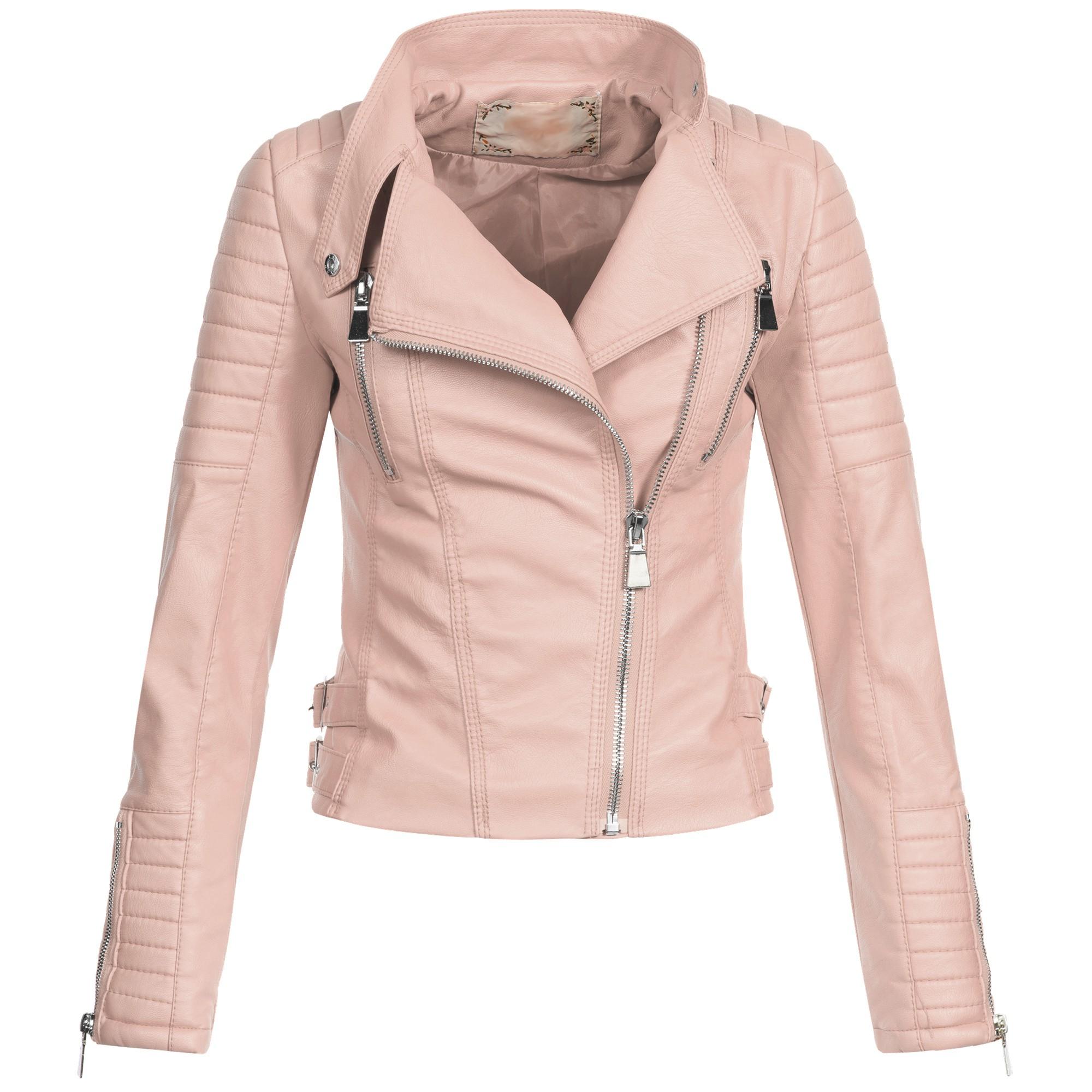 online store adb49 a5161 AZ Damen Kunst-Lederjacke Übergangsjacke Jacke Bikerjacke gesteppt 17069  S-XL