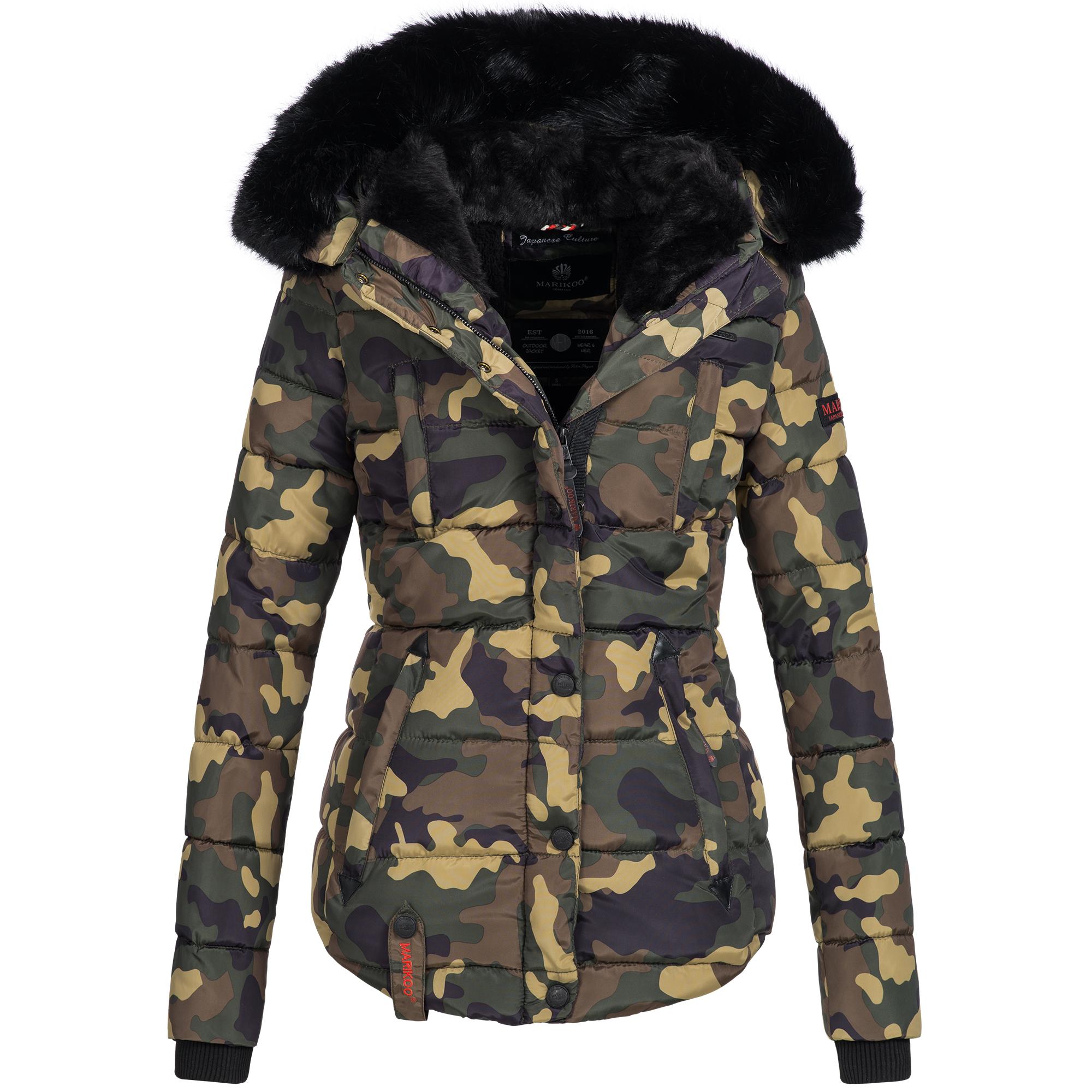 buy popular adb5d c9321 Marikoo LOTUS Damen Jacke Steppjacke Winterjacke warm Parka gefüttert  gesteppt XS-XXL 6-Farben