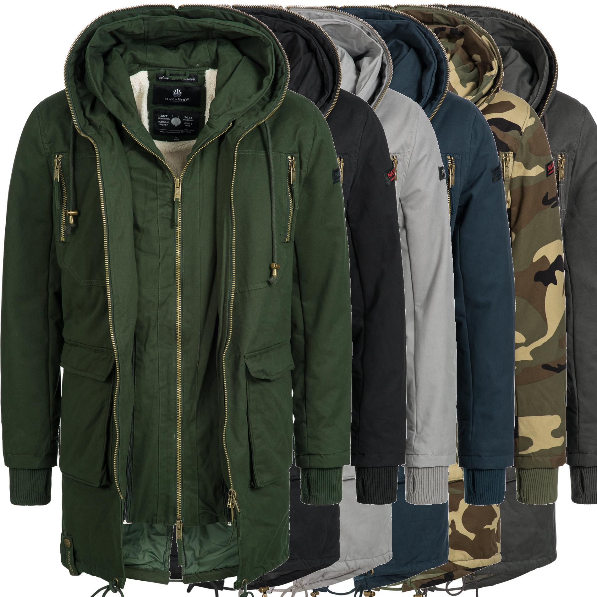 Winterjacke Mantel Details Doublezipper Winter Jacke Warm Omassasin Parka Herren Zu Navahoo OPkwn0