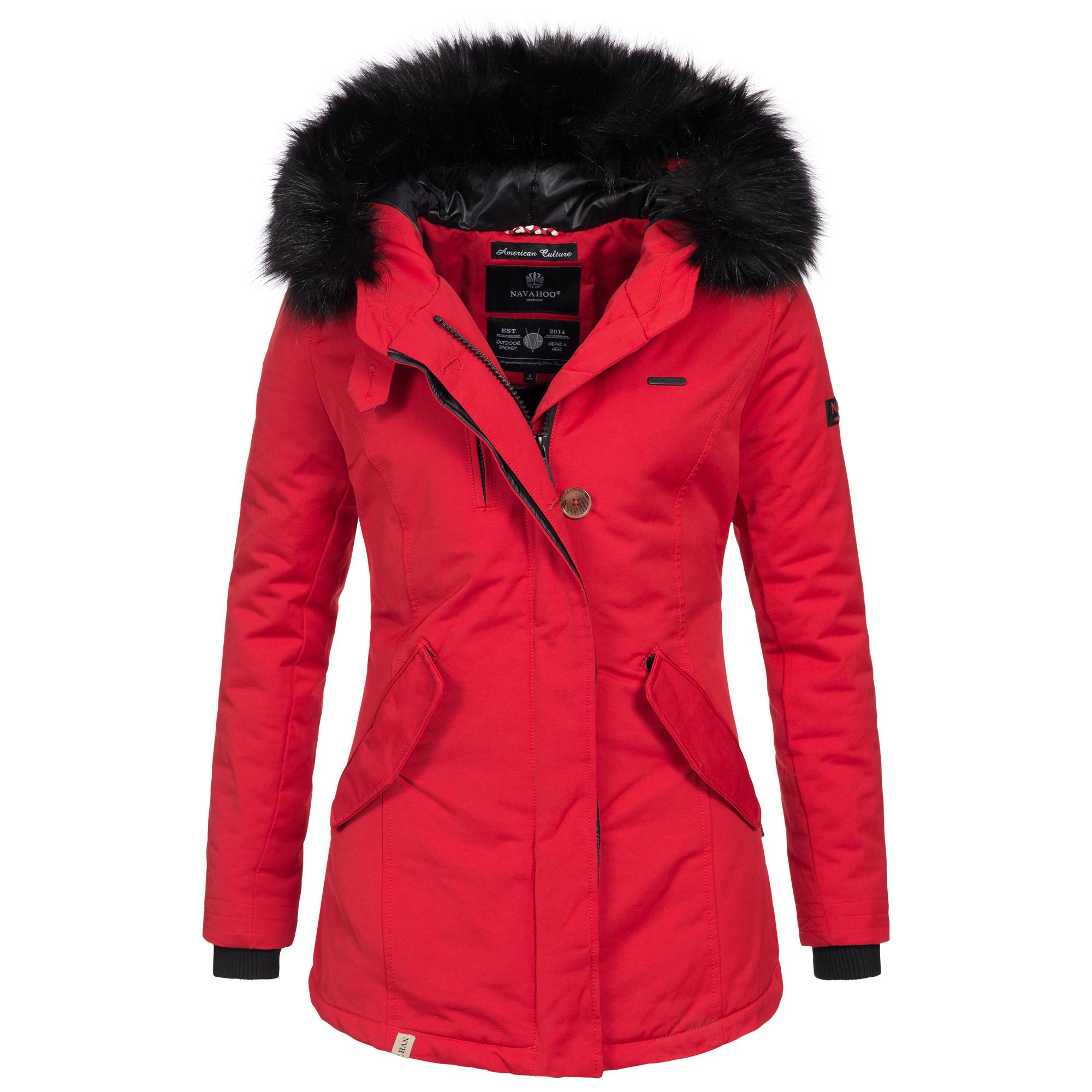 Damen Nisam Farben Luxus Mantel Winterjacke Navahoo Warm