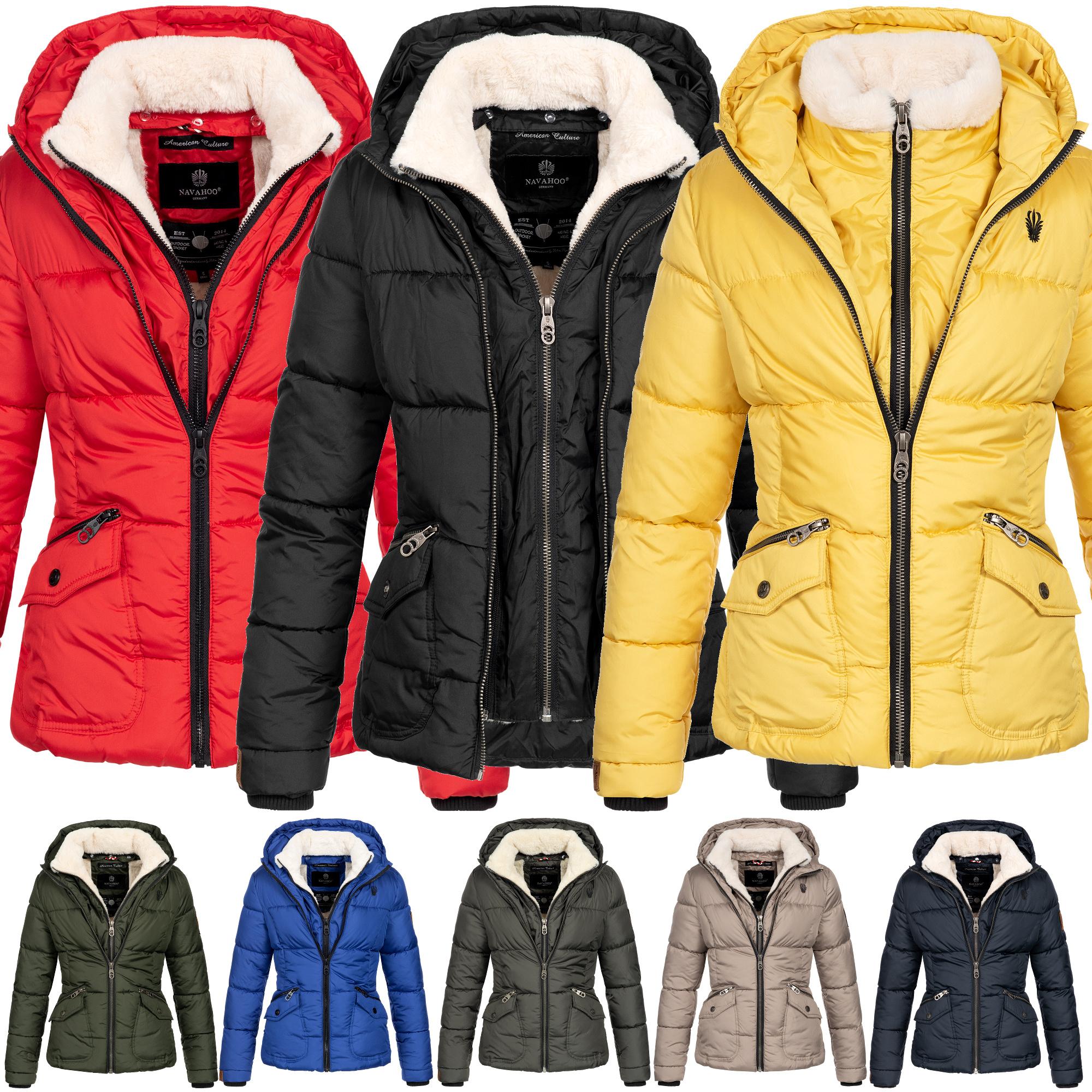 88125efe0d350d Navahoo Jacke Winterjacke Damen Steppjacke Parka warm Teddyfell Megan  XS-XXL 8-Farben