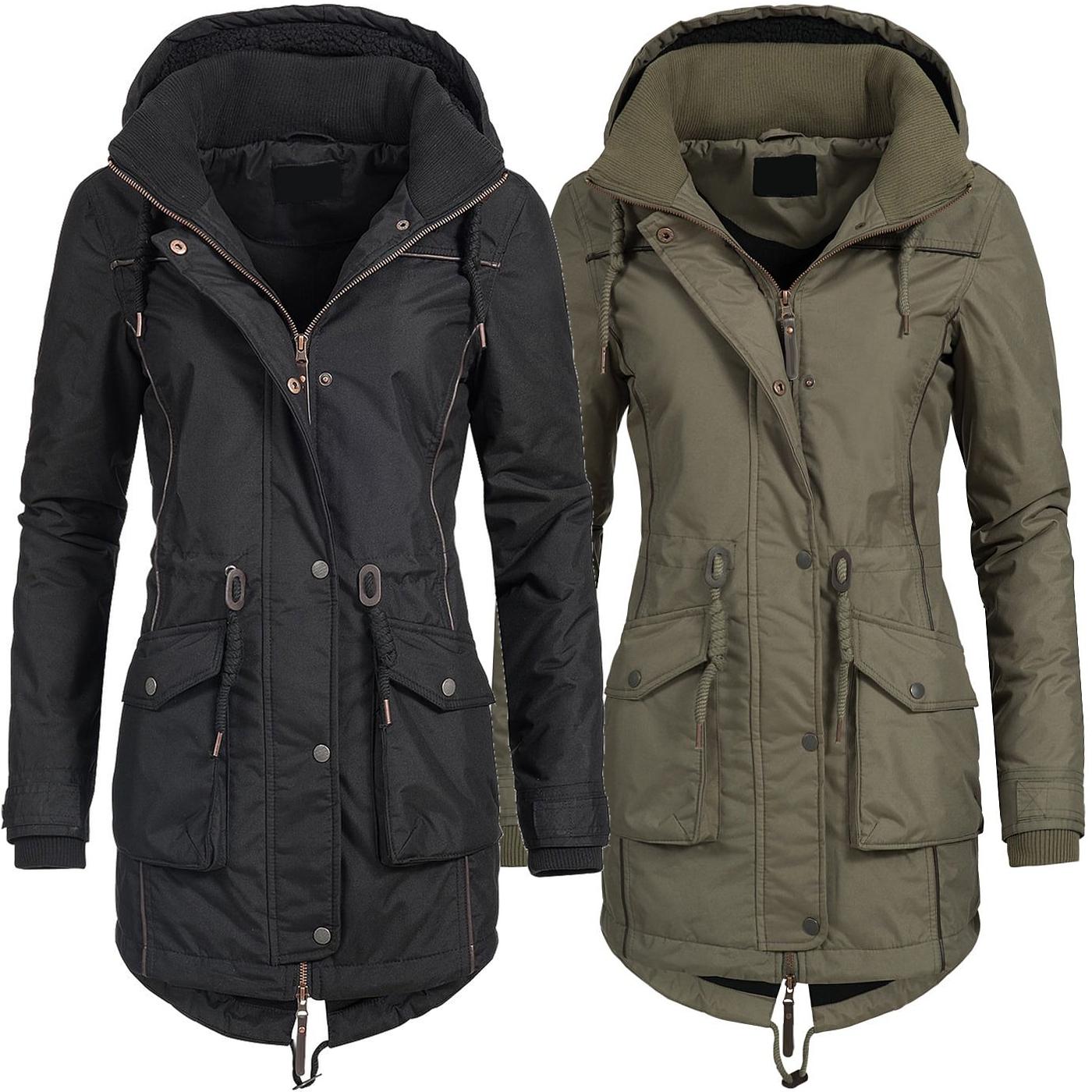 741d46d6e34f Azuonda Damen Mantel Winterjacke Parka Wintermantel warm Teddyfell Jacke  Az97 XS-XXL 2-Farben