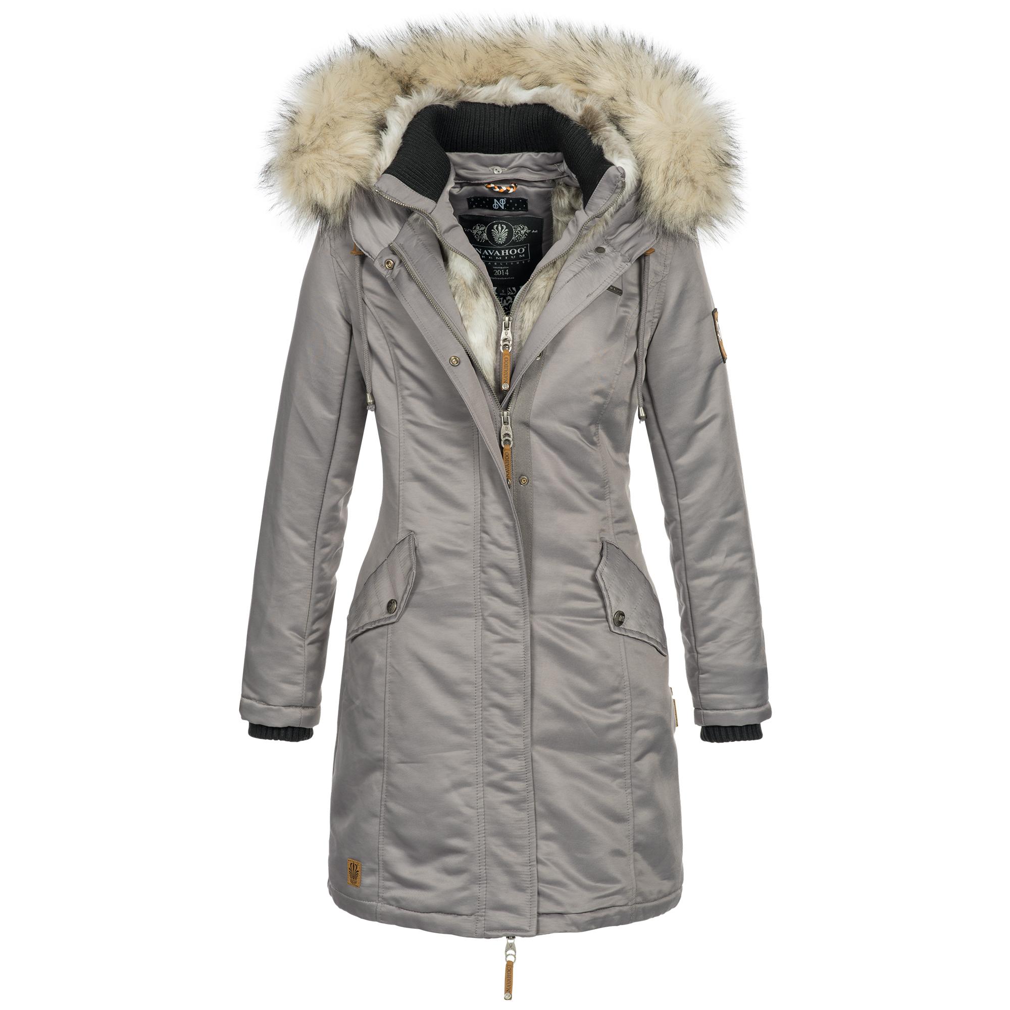 differently 5ec1c 659ef Mantel Luxus Xxl Kapuze Damen Winter Xs Navahoo Winterjacke ...