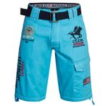 Geographical Norway PRINCER Short Bermuda Hose mit Gürtel S-XXL 008