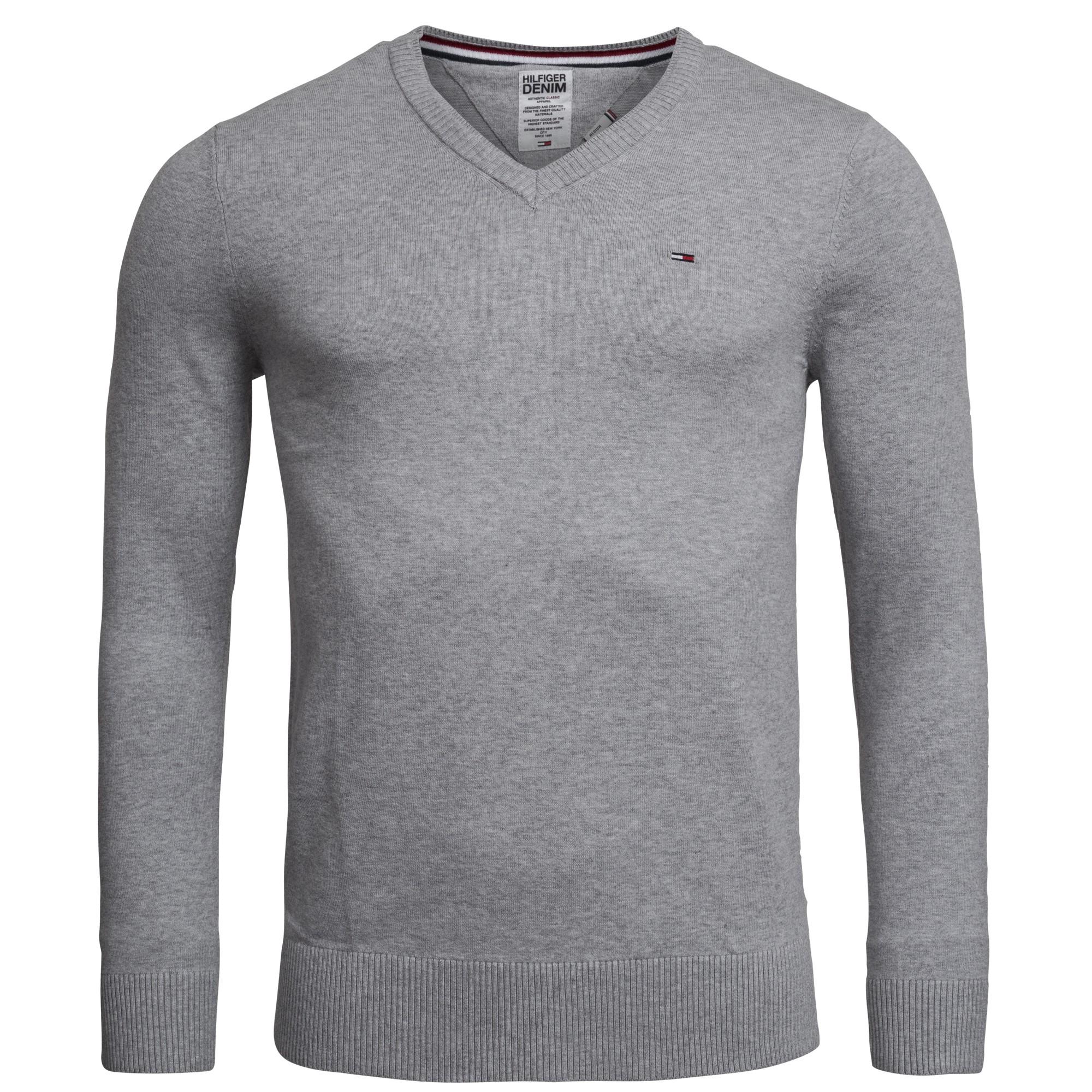 Tommy Hilfiger Pullover Herren V-Neck Pullover Pulli Sweater Strick ... 484f9bdfb4