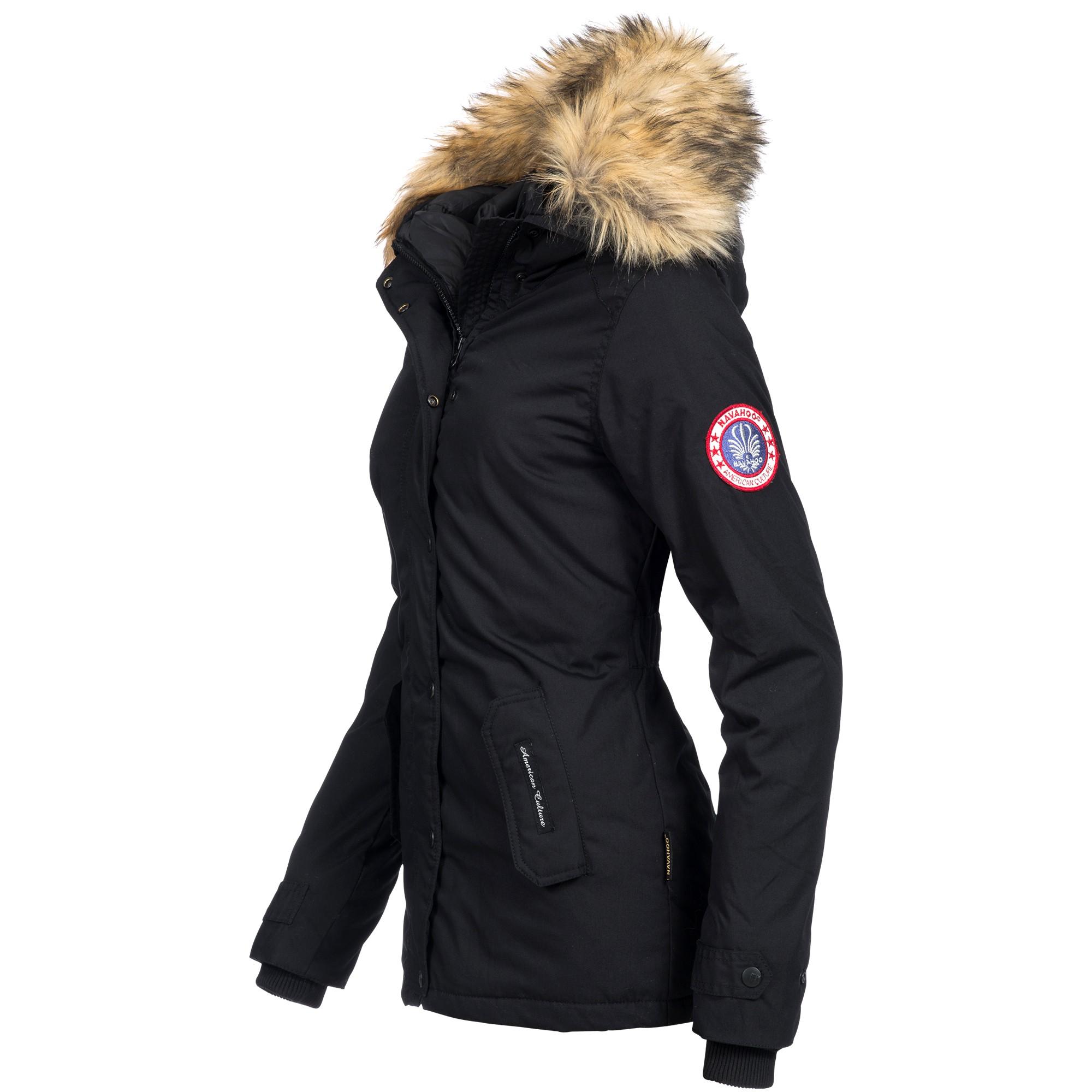 40e97013e827b4 Navahoo LAURA-1 Damen Jacke Parka Mantel Winterjacke Kapuze super warm  XS-XXL | Ausnahme Zustand Shop