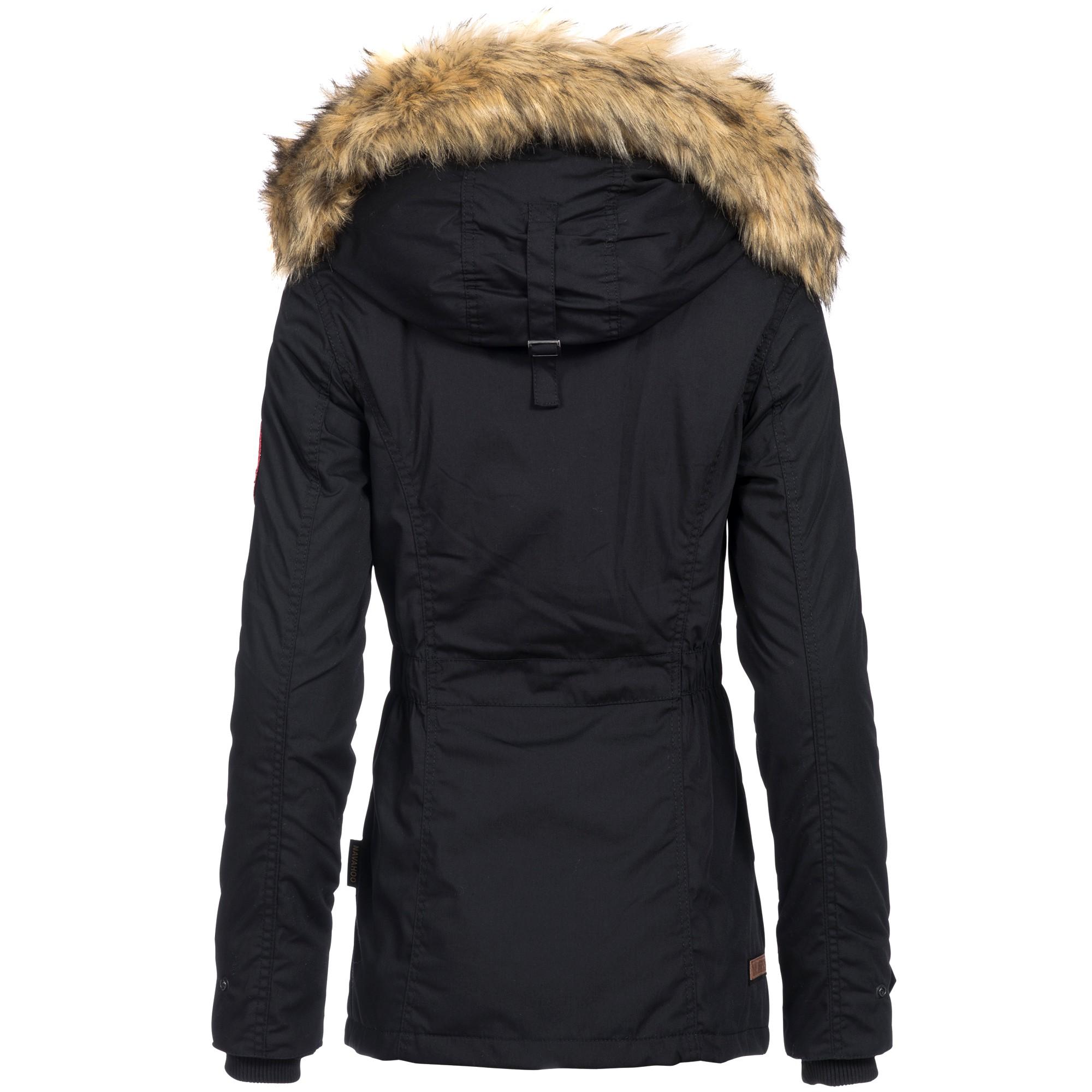 957789e70bdd8a Navahoo LAURA Damen Jacke Parka Mantel Winterjacke Kapuze super warm ...