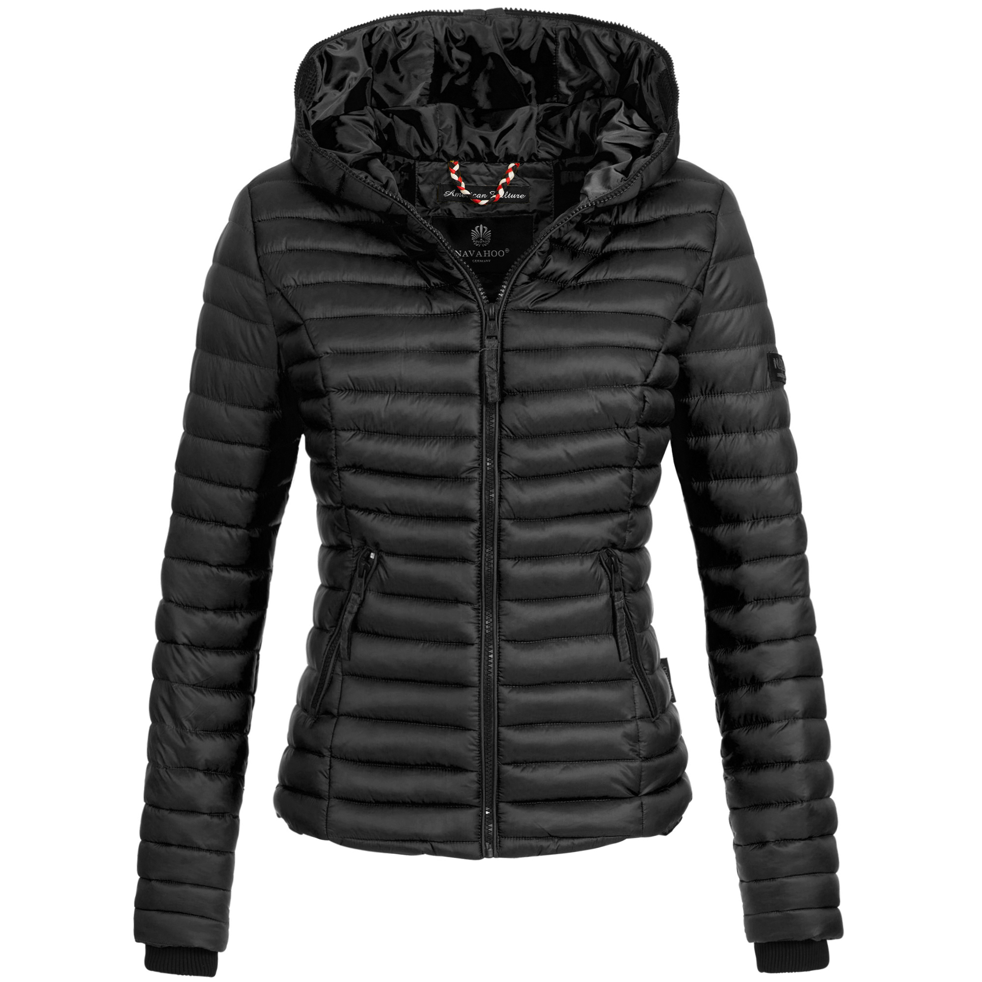 buy popular 49cd6 05e70 Navahoo KIMUK Damen Jacke Steppjacke Übergangsjacke Kapuze gesteppt XS-XXL