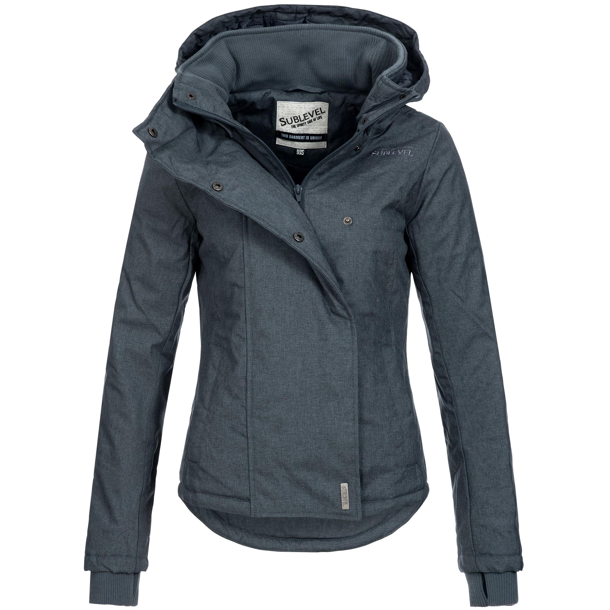 cfd6129be401ab Sublevel Damen Herbst Winter Jacke Mantel Parka Outdoor Stepp Winterjacke  46550 XS-XL