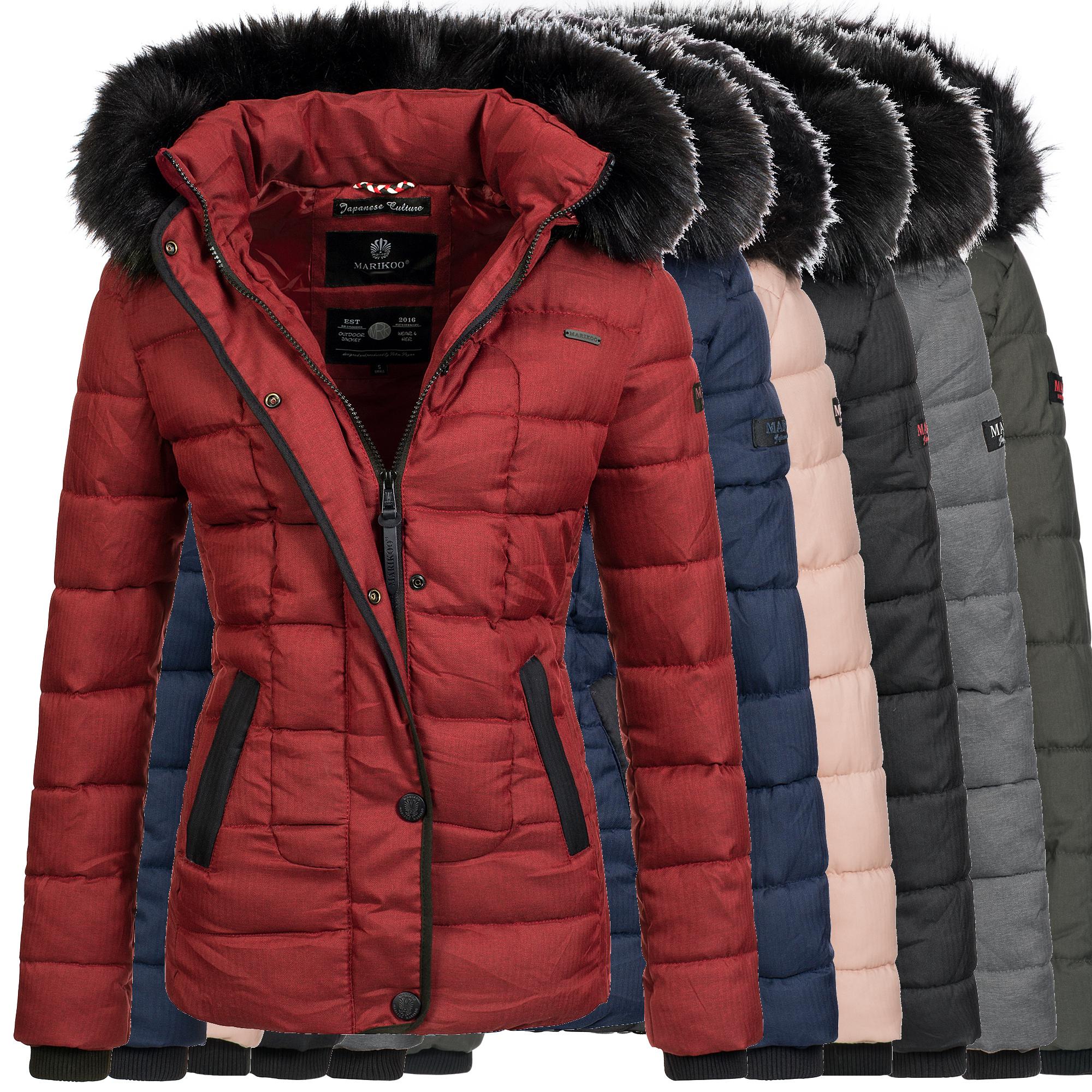 Marikoo Jacke Winter Damen Mantel Winterjacke Stepp Parka warm Unique