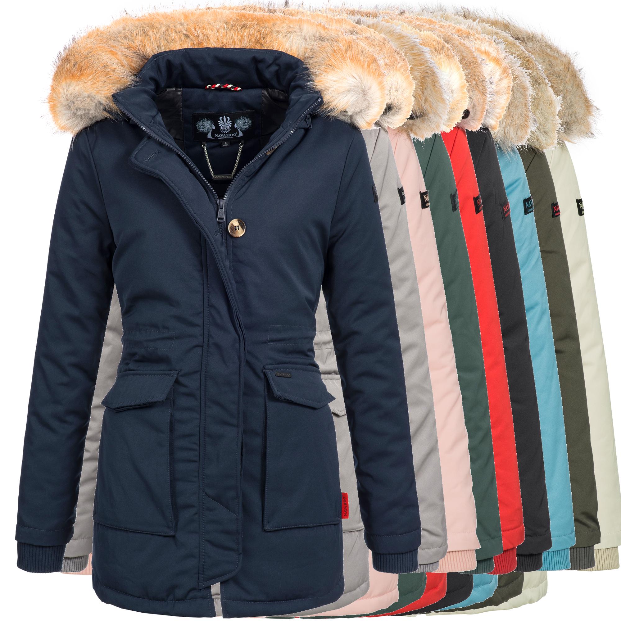 de6df6be66a1d8 Navahoo SCHNEEENGEL Damen Jacke Parka Mantel Winterjacke warm gefüttert Luxus  XXL Kunstpelz 7 Farben