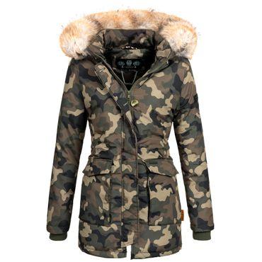 Navahoo SCHNEEENGEL Damen Jacke Parka Mantel Winterjacke warm gefüttert Luxus XXL Kunstpelz 7 Farben