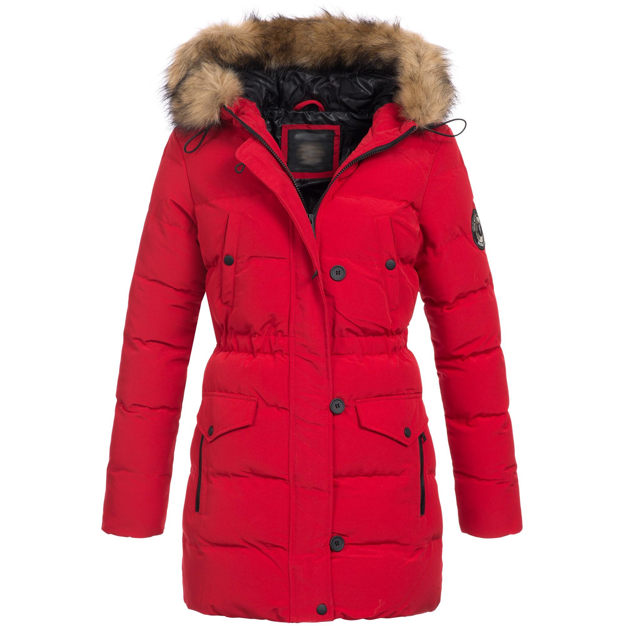 buy online b92c1 ccf46 Brave Soul Damen Winterjacke Mantel Parka Jacke Kunstfell Kapuze S-XXL AZ21