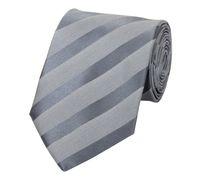 Schlips Krawatte Krawatten Binder 8cm grau silber gestreift Fabio Farini