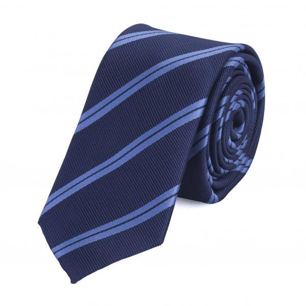 Schlips Krawatte Krawatten Binder 6cm blau gestreift Fabio Farini
