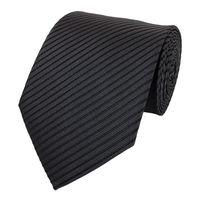 Schlips Krawatte Krawatten Binder 8cm anthrazit schwarz gestreift Fabio Farini