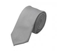 Schlips Krawatte Krawatten Binder 6cm grau silber steingrau uni Fabio Farini