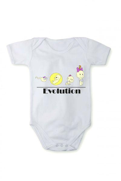 Strampler mit Druck Baby Body Evolution In verschiedenen Sprachen