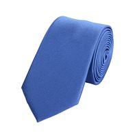 Schlips Krawatte Krawatten Binder 6cm blau hellblau himmelblau uni Fabio Farini