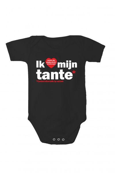Baby Body mit Druck Ich liebe meine Tante In verschiedenen Sprachen