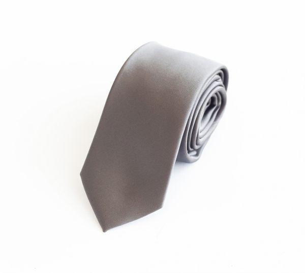Schlips Krawatte Krawatten Binder 6cm silber grau hellgrau uni Fabio Farini