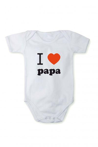 Strampler Baby Body Ich liebe Papa In verschiedenen Sprachen