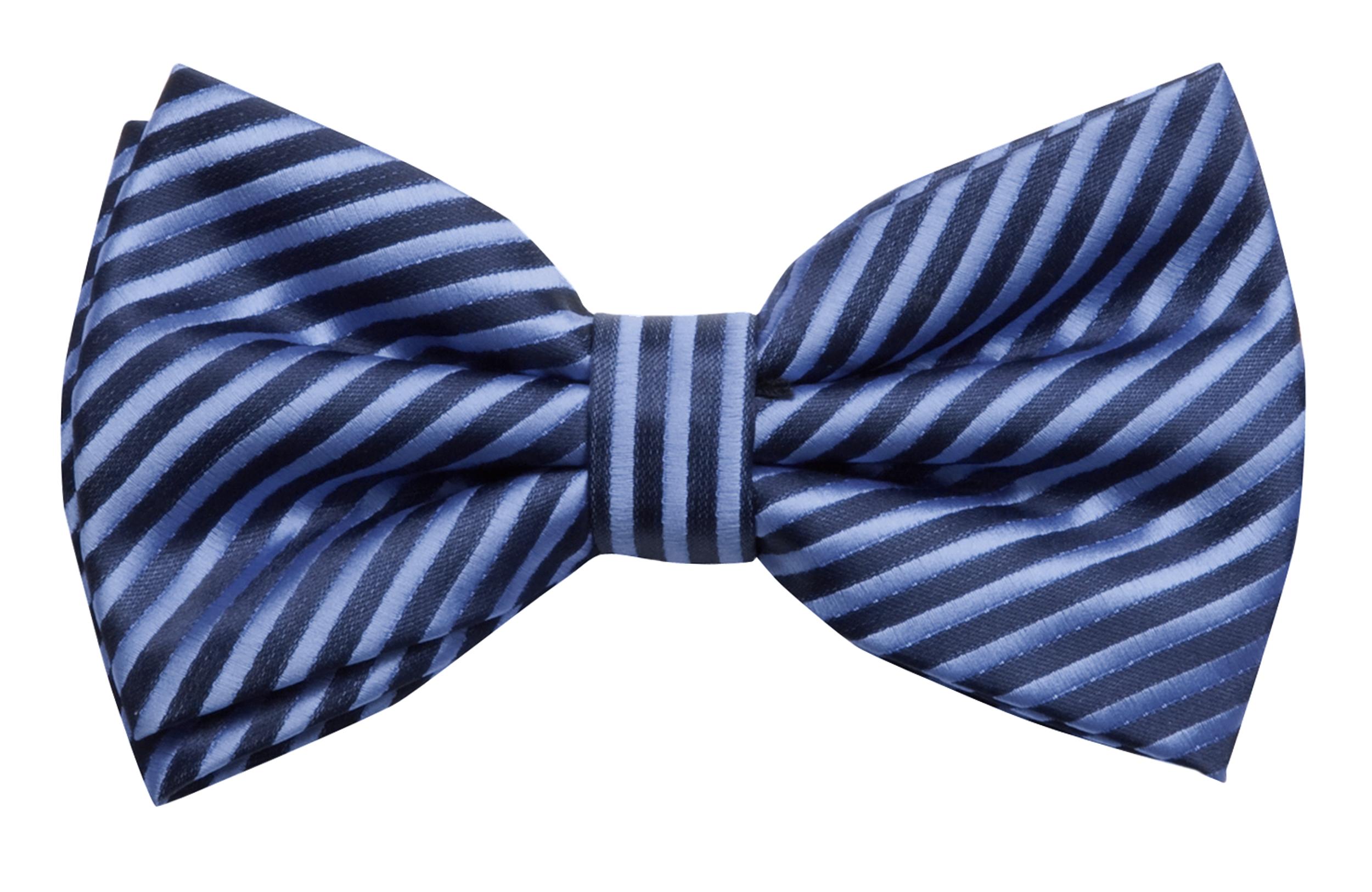 Fabio Farini blau gestreifte 12 x 7 cm vorgebundene Herren Fliege