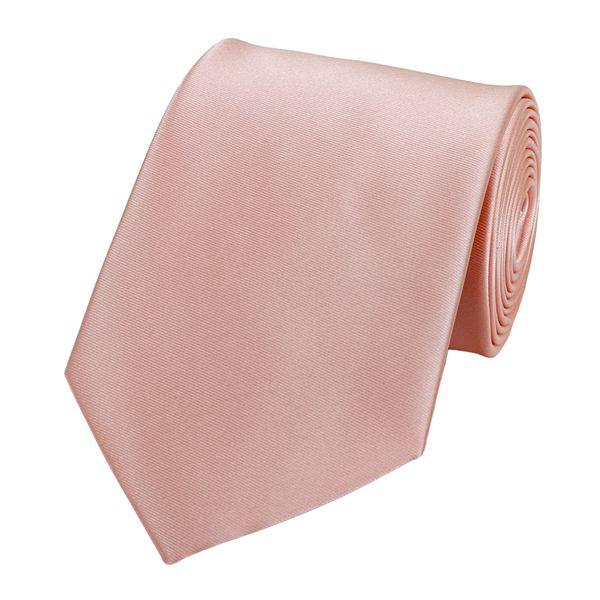 Schlips Krawatte Krawatten Binder 8cm lachs rosa uni Fabio Farini