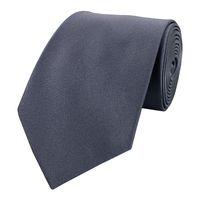 Schlips Krawatte Krawatten Binder 8cm grau silber anthrazit Fabio Farini
