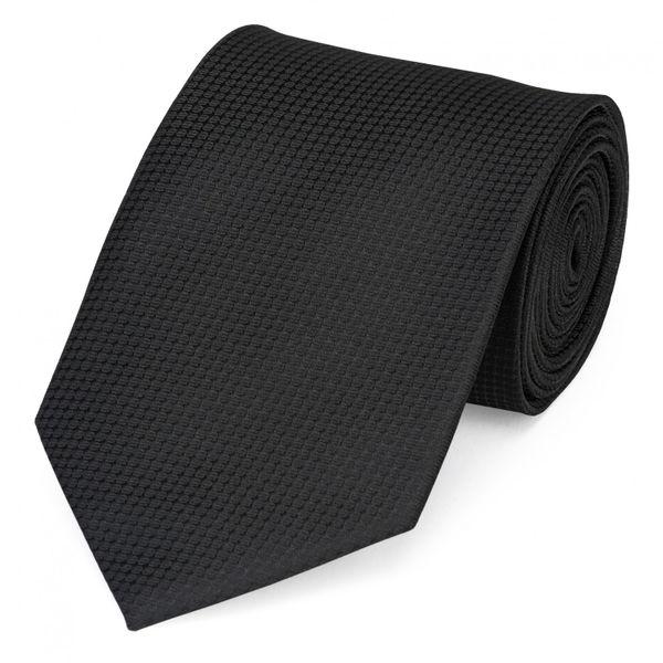 Schlips Krawatte Krawatten Binder 8cm schwarz gepunktet uni Fabio Farini