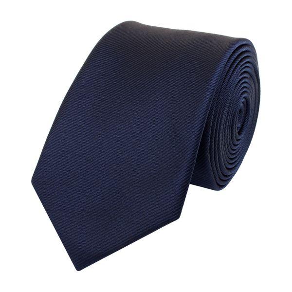 Schlips Krawatte Krawatten Binder Schmal 6cm dunkelblau gestreift Fabio Farini
