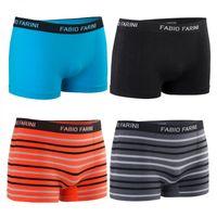 4er Pack Fabio Farini sportliche Boxershorts nahtlos trendy Farben