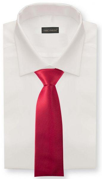 Schlips Krawatte Krawatten Binder 8cm rot dunkelrot uni Fabio Farini