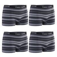 4er Pack Fabio Farini Boxershorts - nahtlos in vielen trendigen Farben