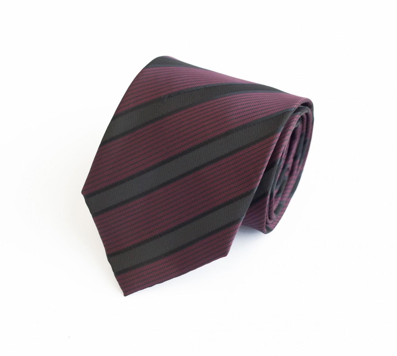 3119da64b8daf Schlips Krawatte Krawatten Binder 8cm altrosa rot schwarz gestreift ...