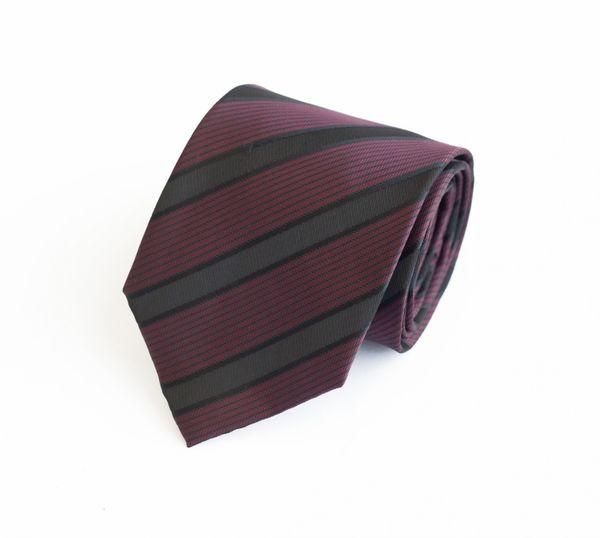 Schlips Krawatte Krawatten Binder 8cm altrosa rot schwarz gestreift Fabio Farini