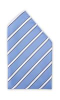 Einstecktuch blau gestreift weiß schwarz Business Fabio Farini Glanz Streifen