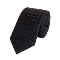 Schlips Krawatte Krawatten Binder 6cm schwarz gepunktet uni Fabio Farini