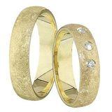 1 Paar Trauringe Eheringe 5 mm Arnold 333 Gold Gelbgold 0,03 ct Diamant 001