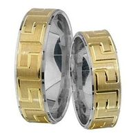 1 Paar Trauringe Eheringe 5,5 mm Dieter Bicolor 333 Gold