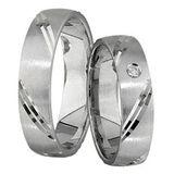 Freundschaftsringe Verlobungsringe Trauringe 5 mm 925 Silber 0,01 ct Diamant 001