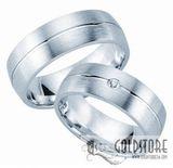Freundschaftsringe Verlobungsringe Trauringe 925 Silber 7 mm Gravur Etui Diamant 001