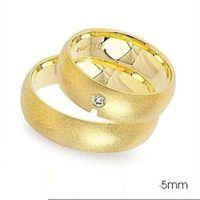 1 Paar Trauringe Eheringe 5 mm Emiliy 585 Gold Gelbgold mit 0,04 ct Diamant