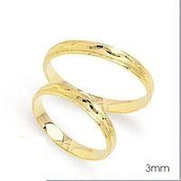 1 Paar Trauringe Eheringe 3 mm Cherish 333 Gold Gelbgold inkl. Gravur & Etui – Bild 2