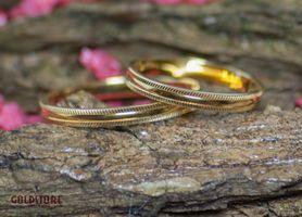 1 Paar Trauringe Eheringe 2,5 mm 333 Gold Gelbgold Eternity inkl. Gravur & Etui – Bild 1