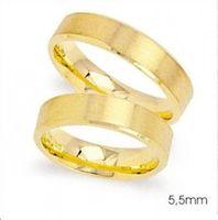 1 Paar Trauringe Eheringe 5,5 mm Superb 333 Gold Gelbgold inkl. Gravur & Etui – Bild 1