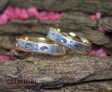 1 Paar Trauringe Eheringe 5 mm wonderfull Bicolor 585 Gold mit Gravur & Etui 001
