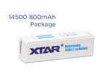 Xtar 14500 - 800 mAh 3,6 V - 3,7 V geschützter Li-Ion-Akku – Bild 4