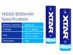 Xtar 14500 - 800 mAh 3,6 V - 3,7 V geschützter Li-Ion-Akku – Bild 3
