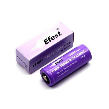 Efest Purple IMR18500 - 1000mAh 3,7V (Button Top, ungeschützt) – Bild 1